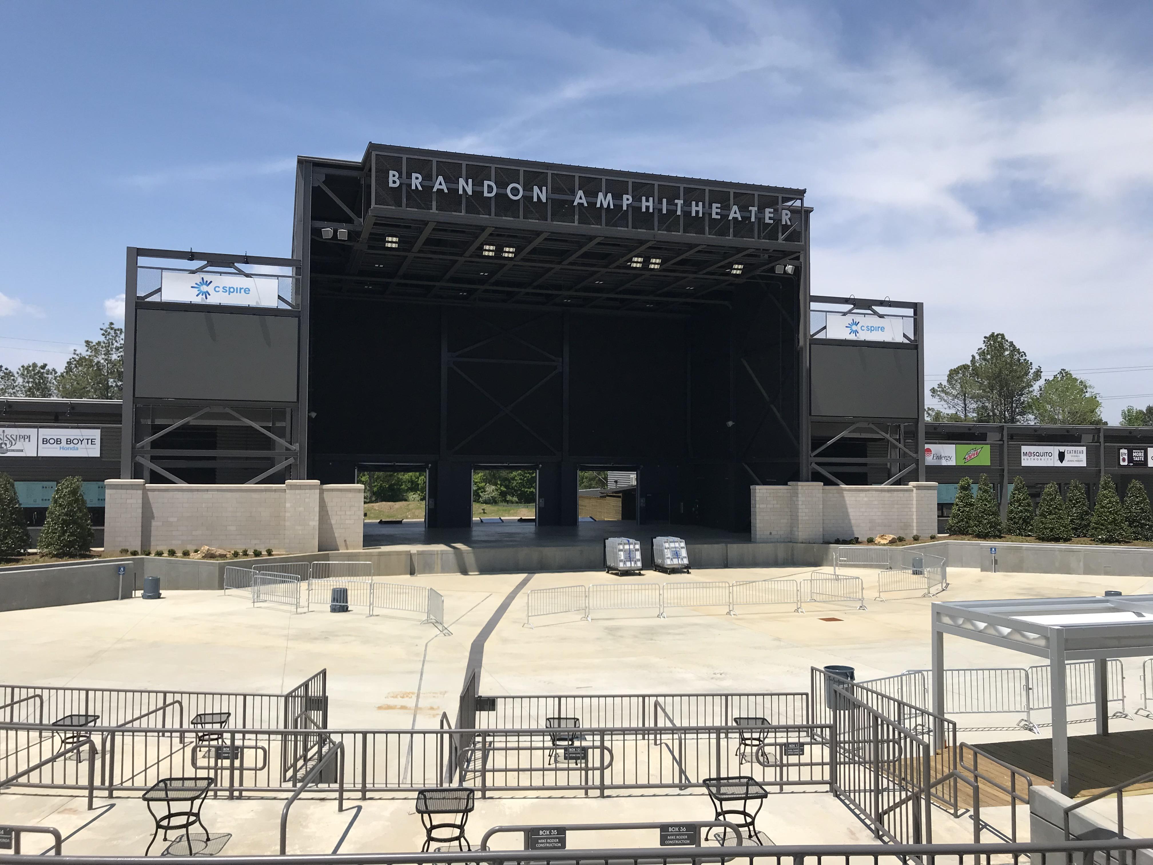 Seating Map - The Brandon Amphitheater